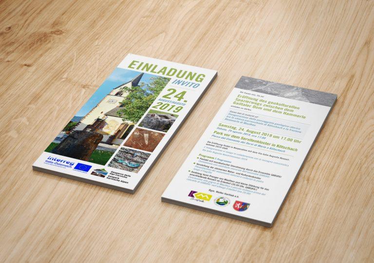 GeoPark Karnische Region Einladungsflyer