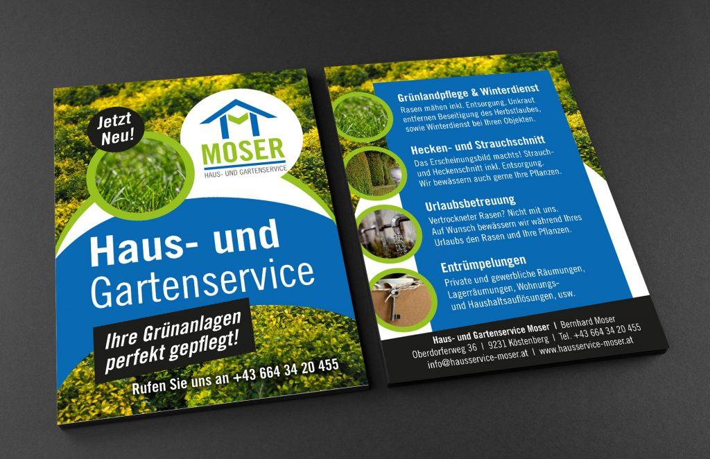 Flyer Haus- und Gartenservice Moser