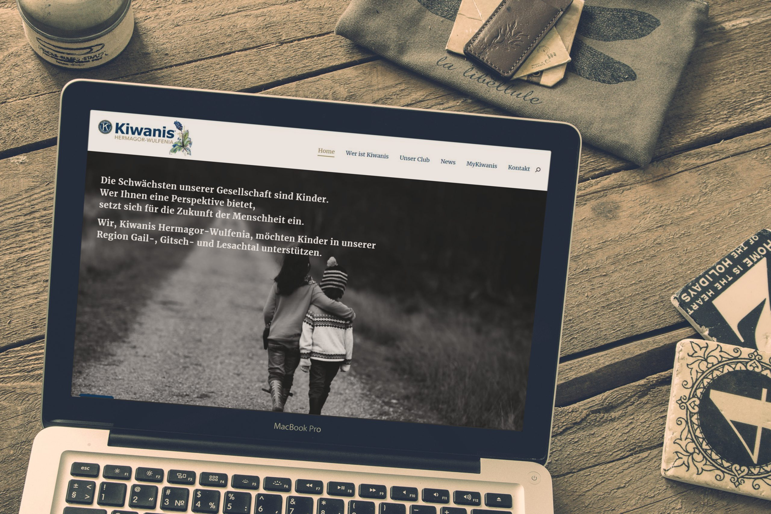 Homepage Webdesign Kiwanis Hermagor-Wulfenia