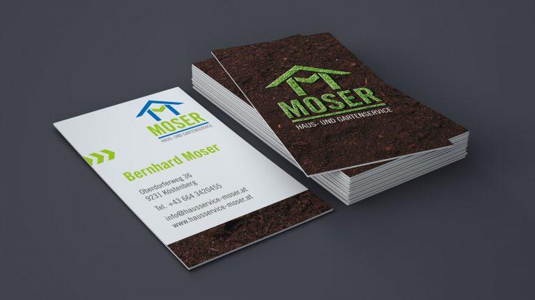 Visitenkarten für Haus- und Gartenservice Moser