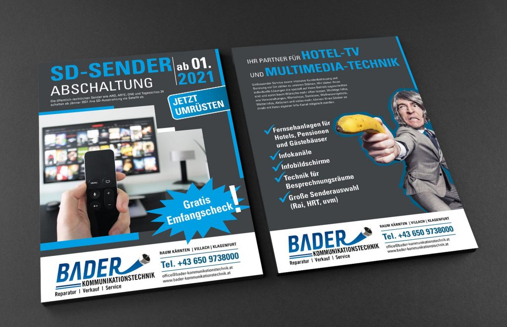 Flyer Bader Kommunikationstechnik