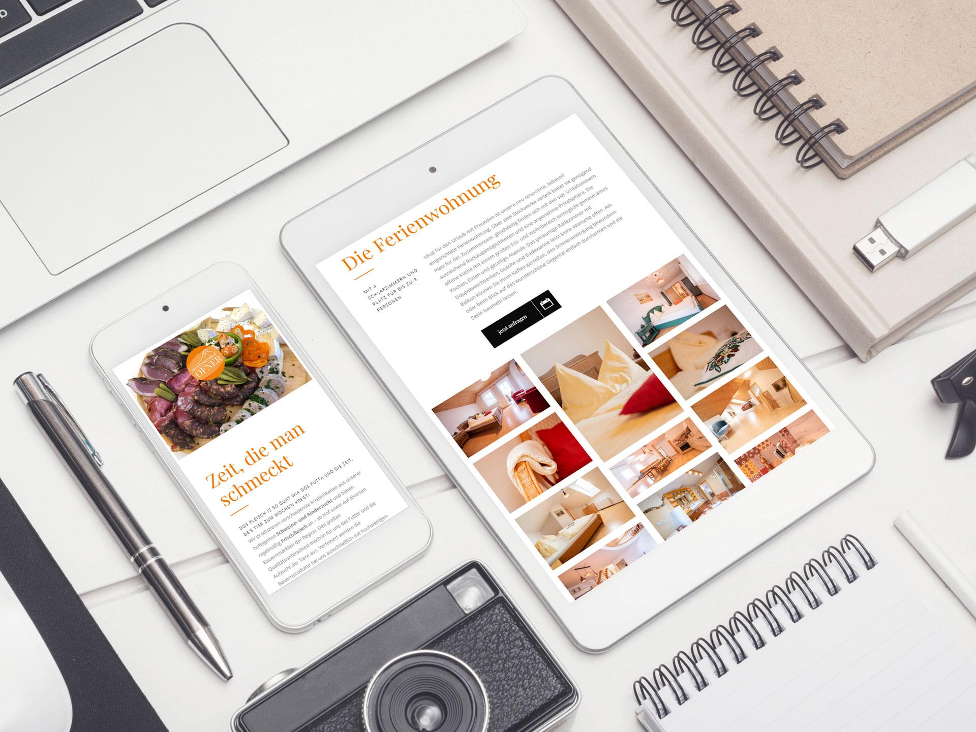 Bergbauernhof Ofner responsive Webdesign