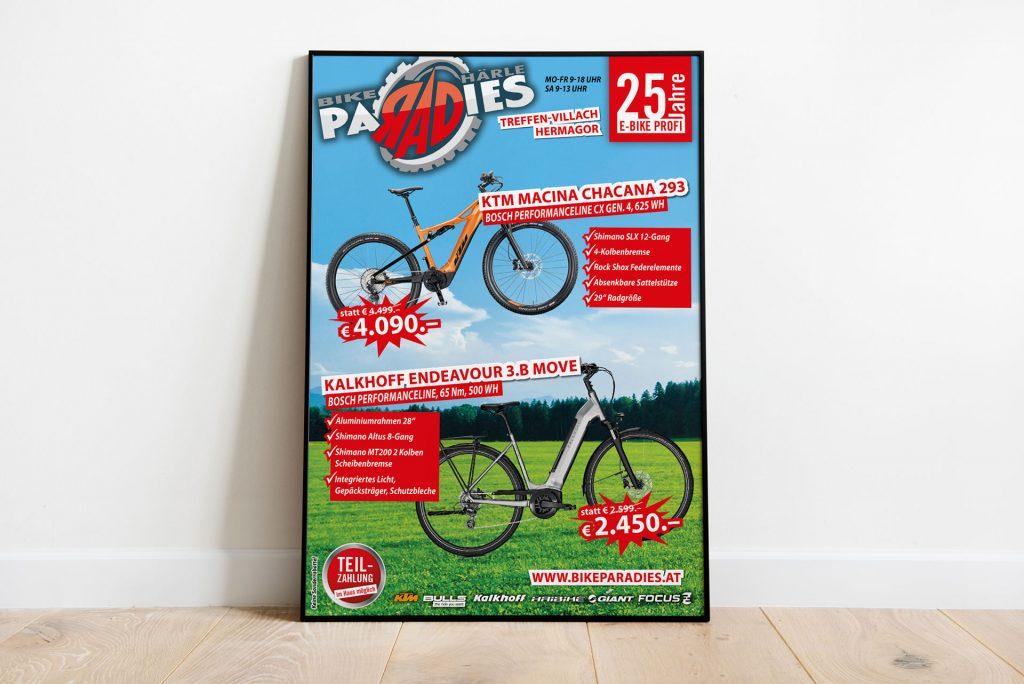 Plakat Bikeparadies Härle