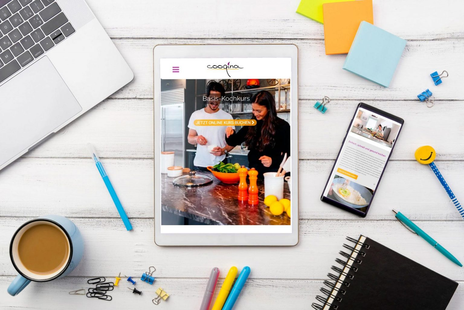 Cooqina | Online Kochschule Webdesign
