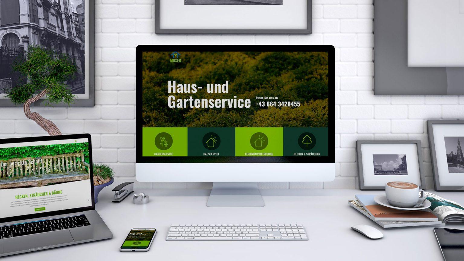 Webdesign Relaunch | Haus- und Gartenservice Moser