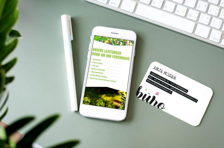 Responsive Webdesign Gartenservice Moser
