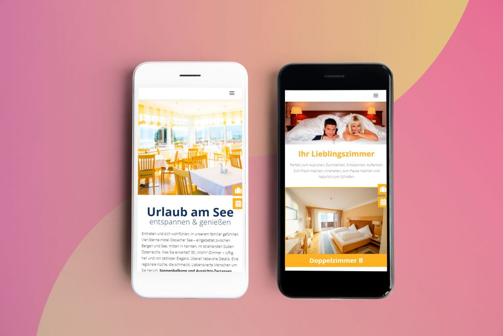 Hotel Ossiacher See Homepage Webdesign Mobile Version