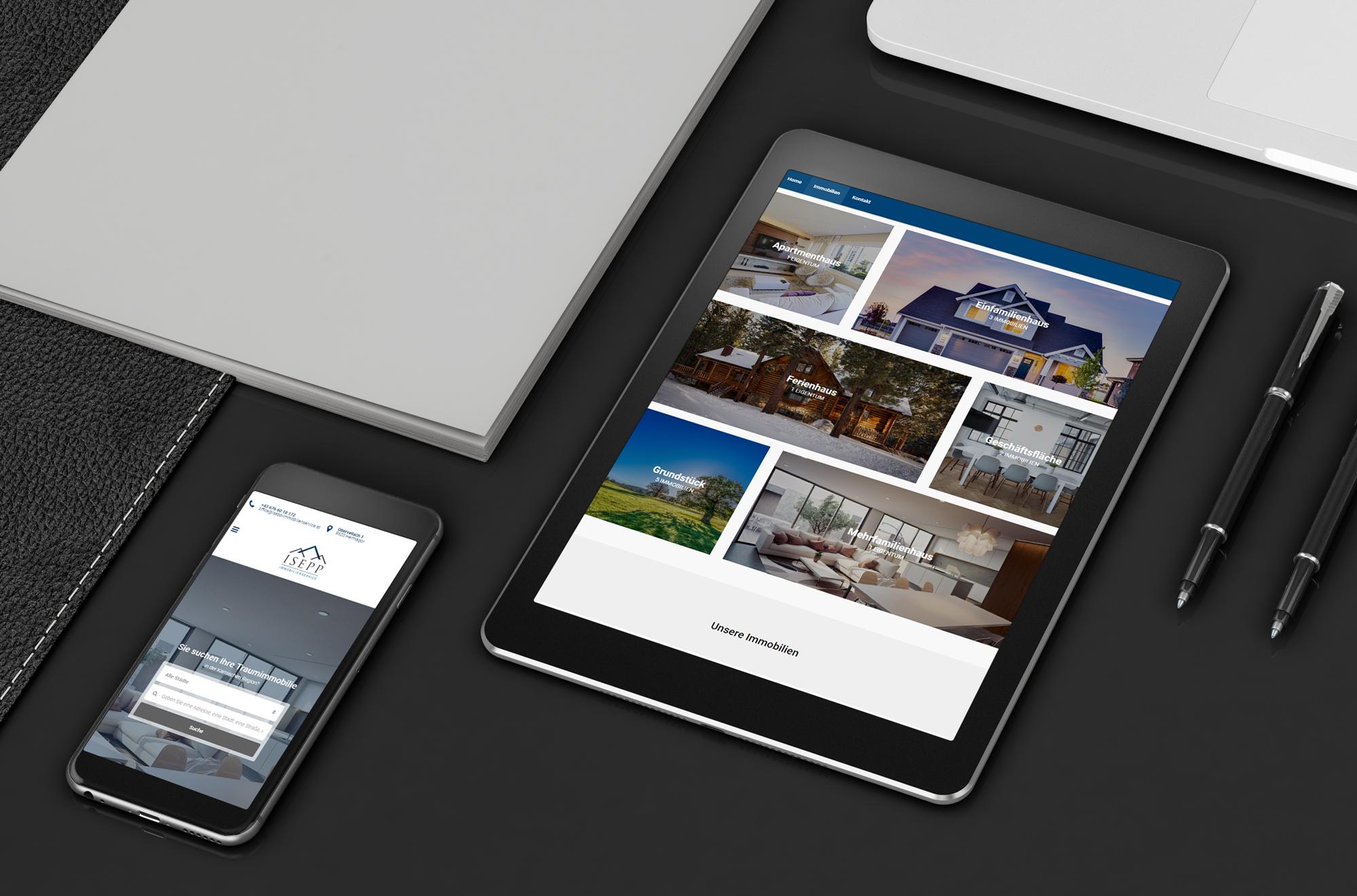 Responsive Webdesign Isepp Immobilienservice