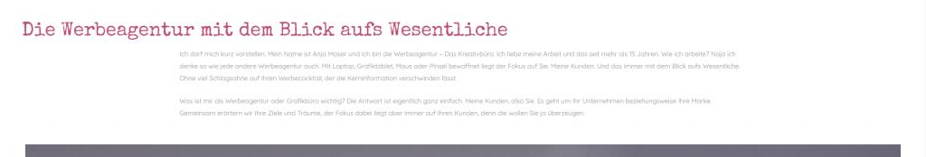 Willkommenstext Website